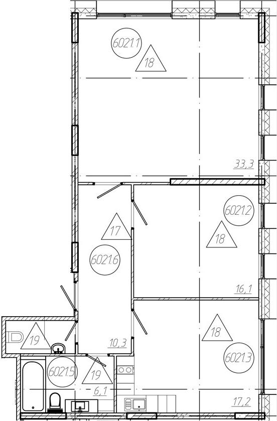 3-к.кв (евро), 85.6 м²