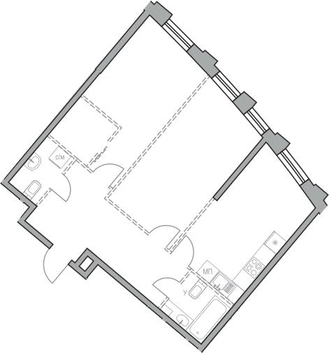 Своб. план., 68.79 м², от 23 этажа