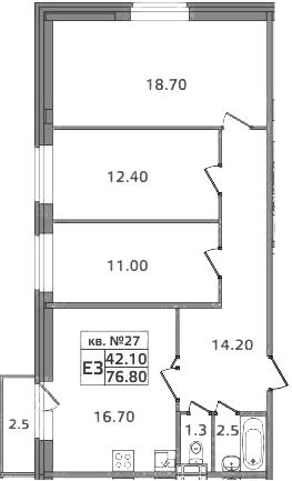 4-к.кв (евро), 79.3 м²