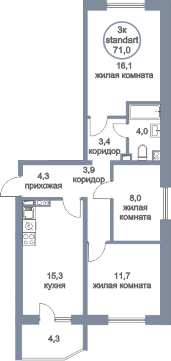 4-к.кв (евро), 75.3 м²