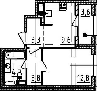 1-к.кв, 36 м², 5 этаж