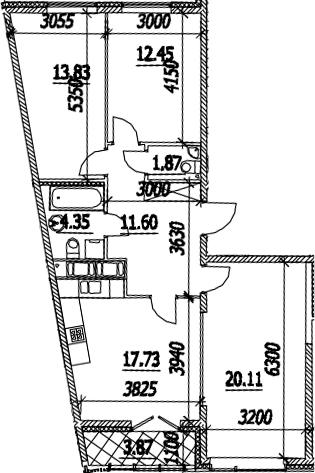 3-к.кв, 83.87 м²
