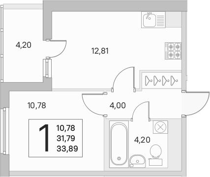 2Е-к.кв, 31.79 м²