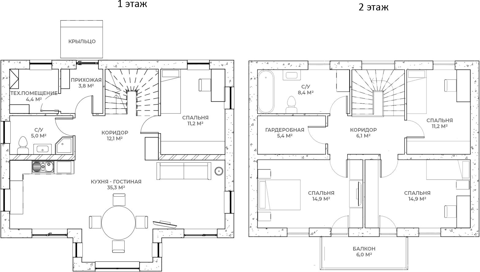 Коттеджи, 138.7 м²