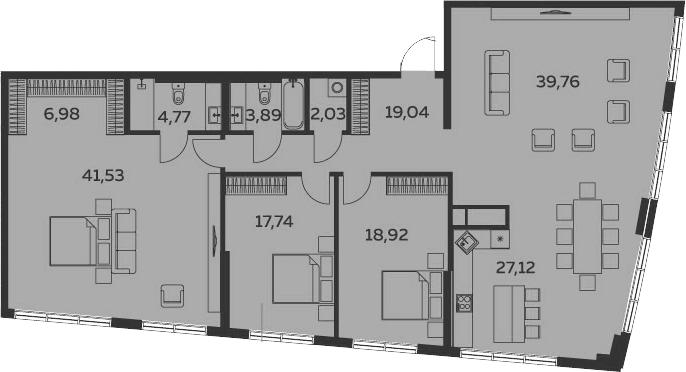 4Е-комнатная, 181.78 м²– 2