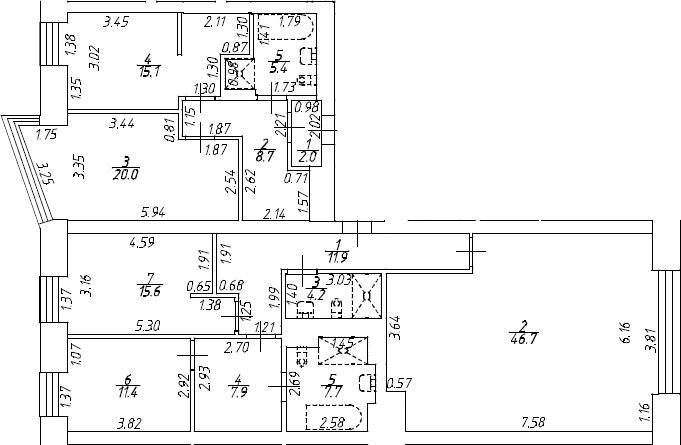 5Е-к.кв, 157.8 м²