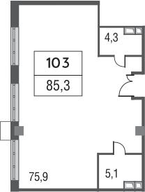 Своб. план., 85.3 м²