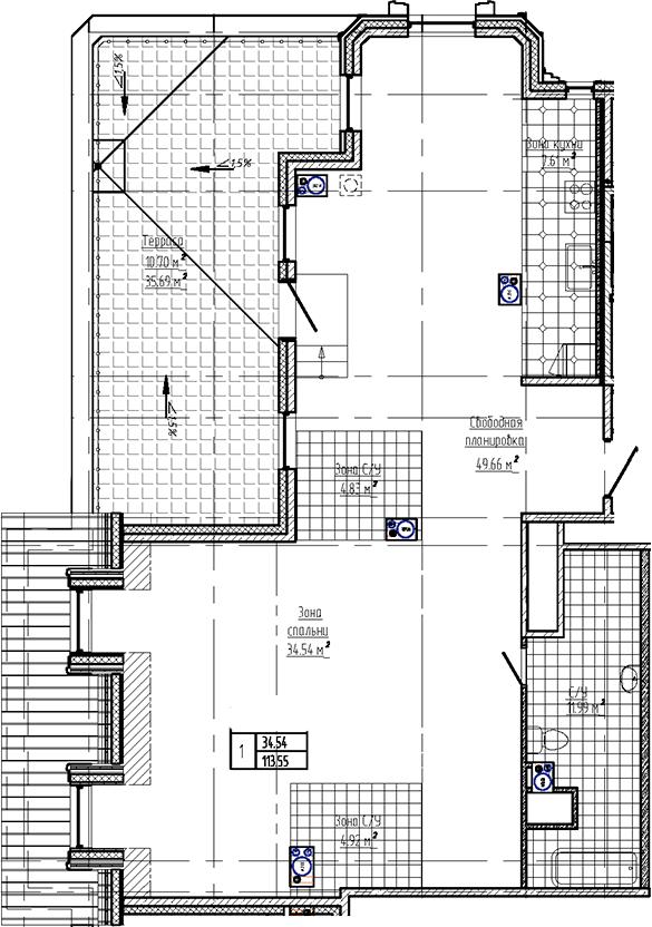 Свободная планировка, 124.26 м²– 2