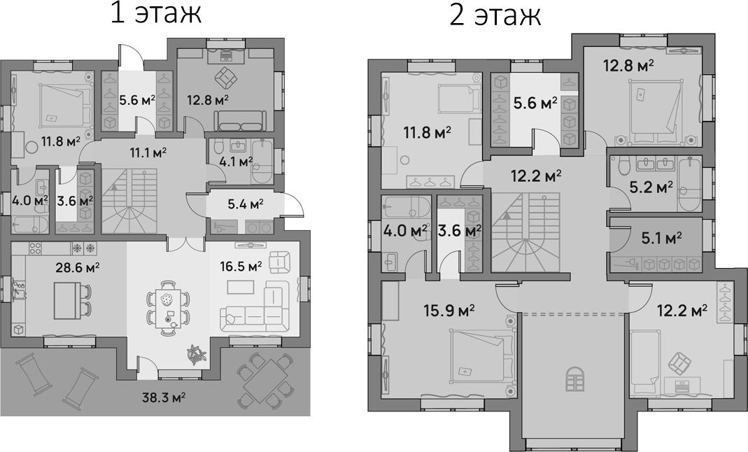 Коттедж, 211 м²– 2