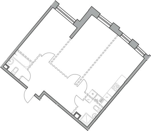 Свободная планировка, 71.03 м²– 2