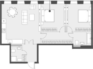 Свободная планировка, 77.1 м²– 2