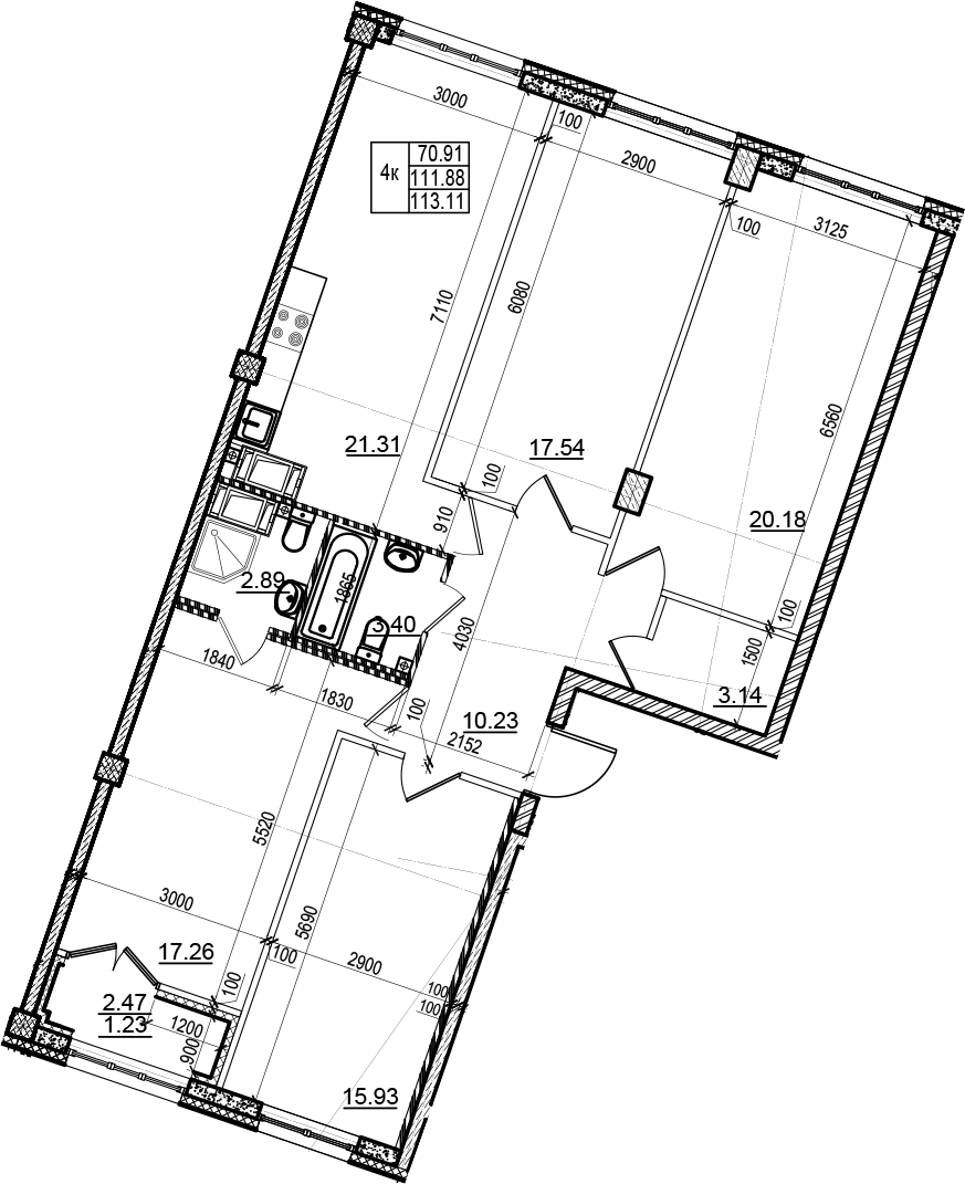 5Е-к.кв, 113.11 м²