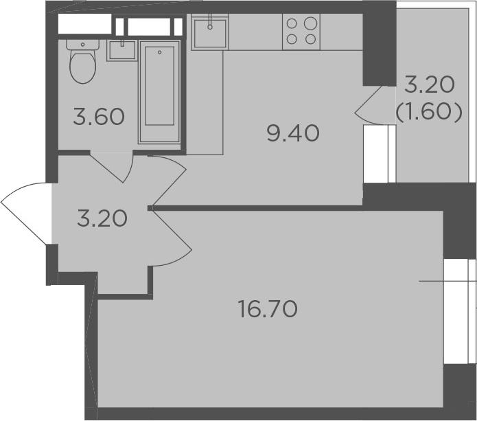 1-к.кв, 34.5 м², 7 этаж