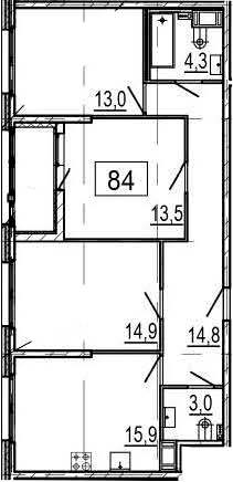 4Е-к.кв, 81.3 м²