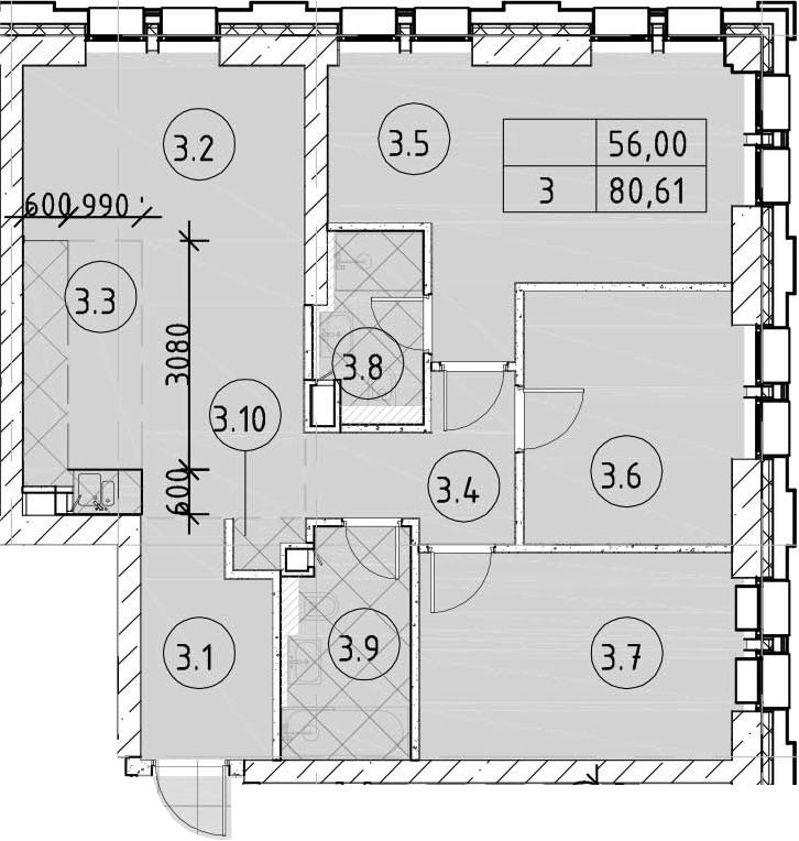 4Е-комнатная, 80.61 м²– 2