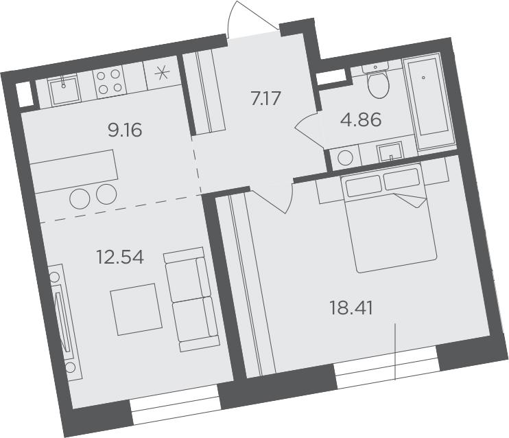 2-к.кв (евро), 52.14 м²