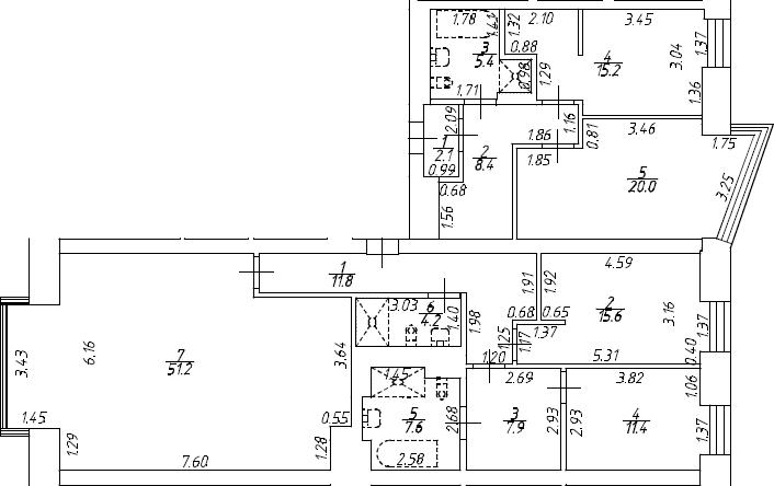4Е-к.кв, 140.8 м², 7 этаж