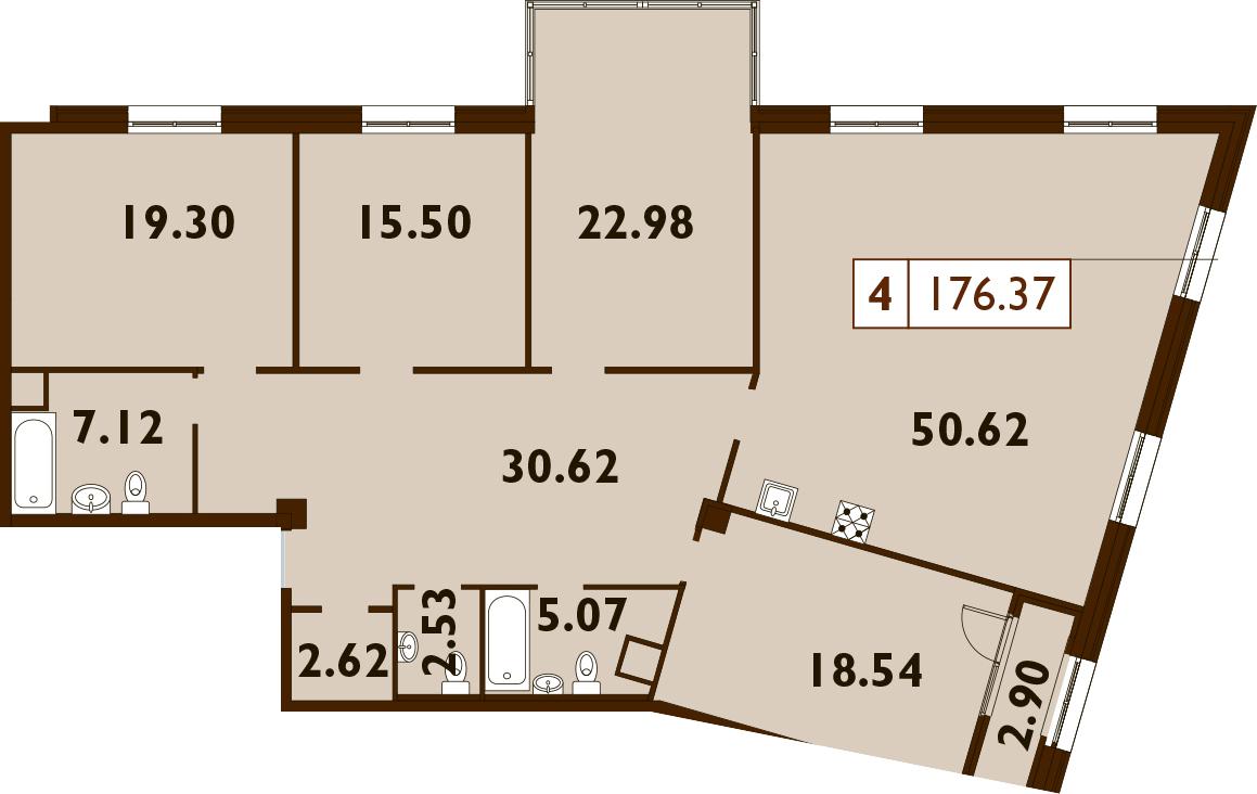 5Е-к.кв, 176.37 м²