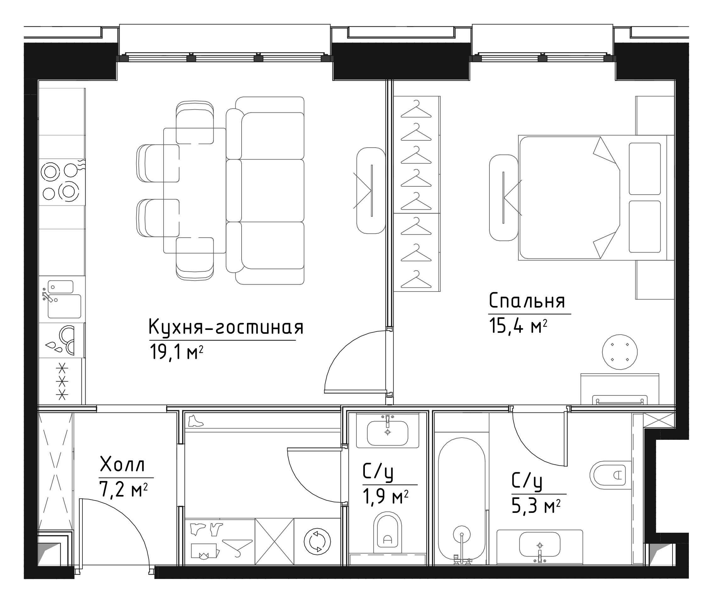 2Е-к.кв, 48.9 м²