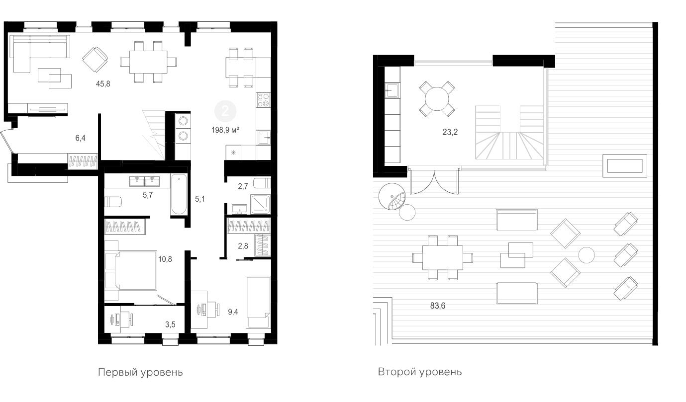 3Е-к.кв, 198.9 м²