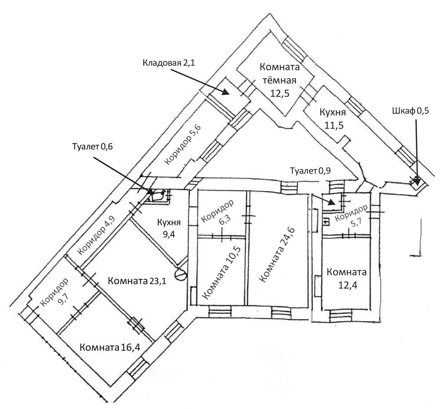 6-к.кв, 156.7 м²