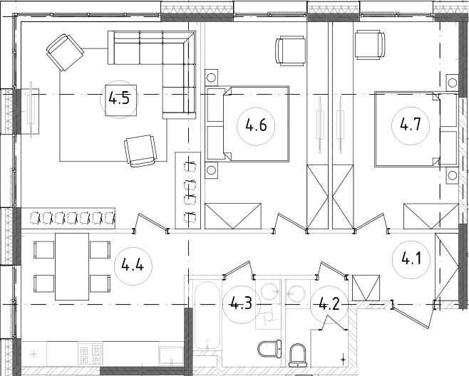 3-к.кв, 77.89 м², 12 этаж