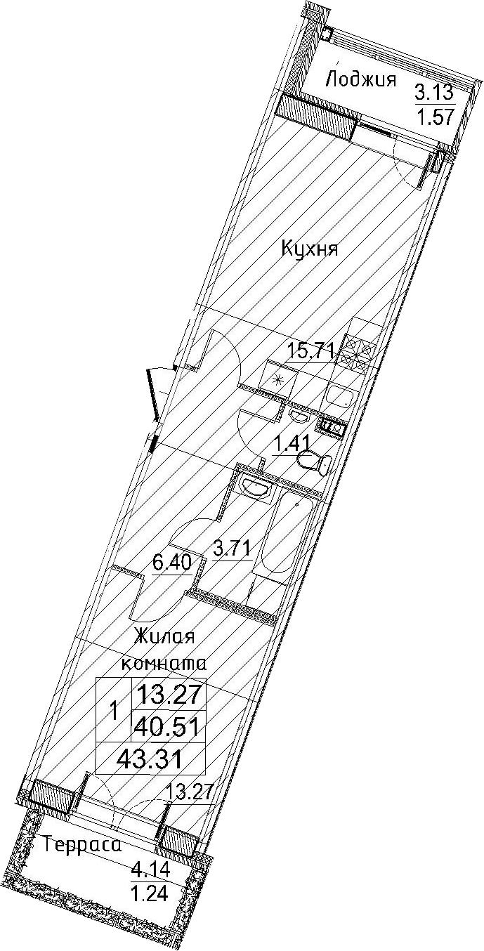 2-к.кв (евро), 47.77 м²