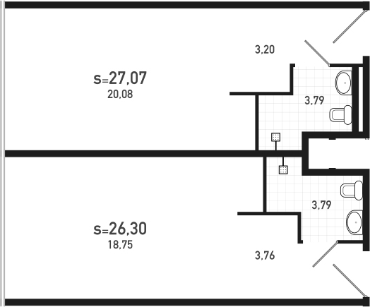 2-к.кв, 53.37 м²