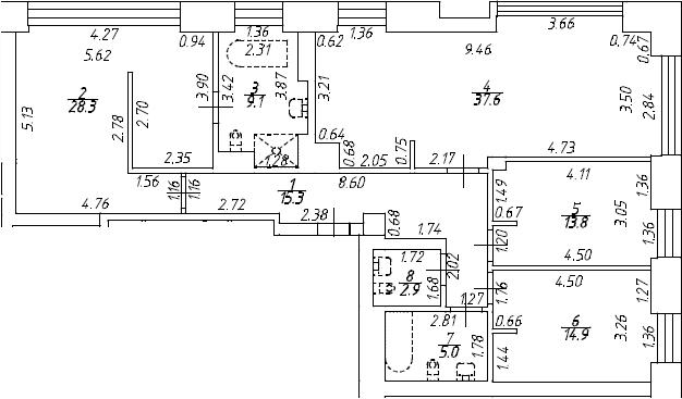 4Е-к.кв, 126.9 м², от 5 этажа