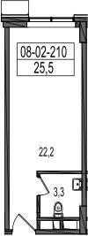 Своб. план., 25.5 м²