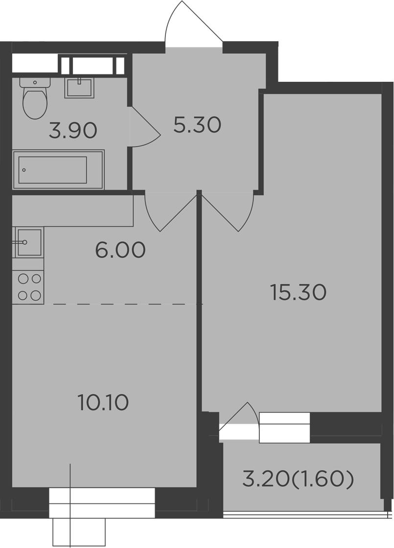 2Е-к.кв, 42.2 м²