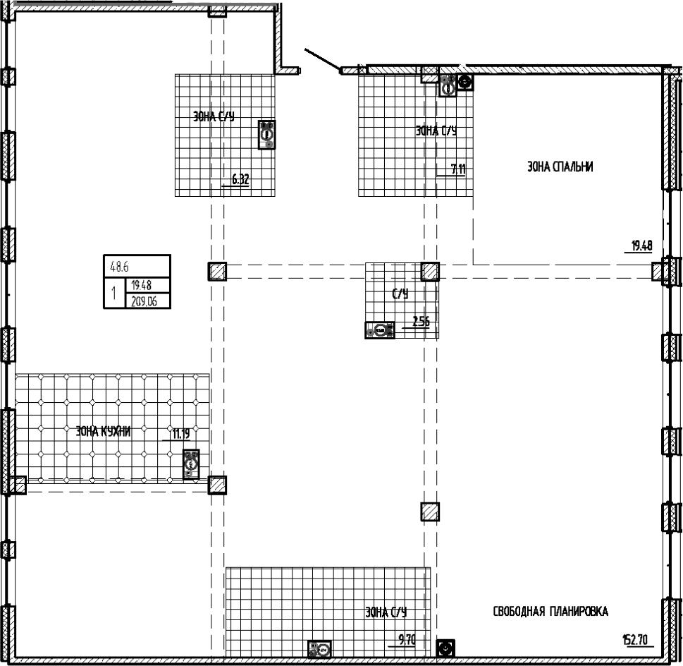 Своб. план., 209.06 м²