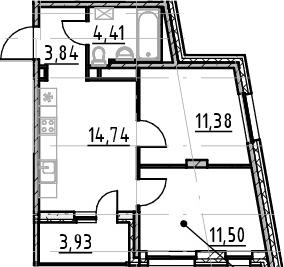 3-к.кв (евро), 49.8 м²