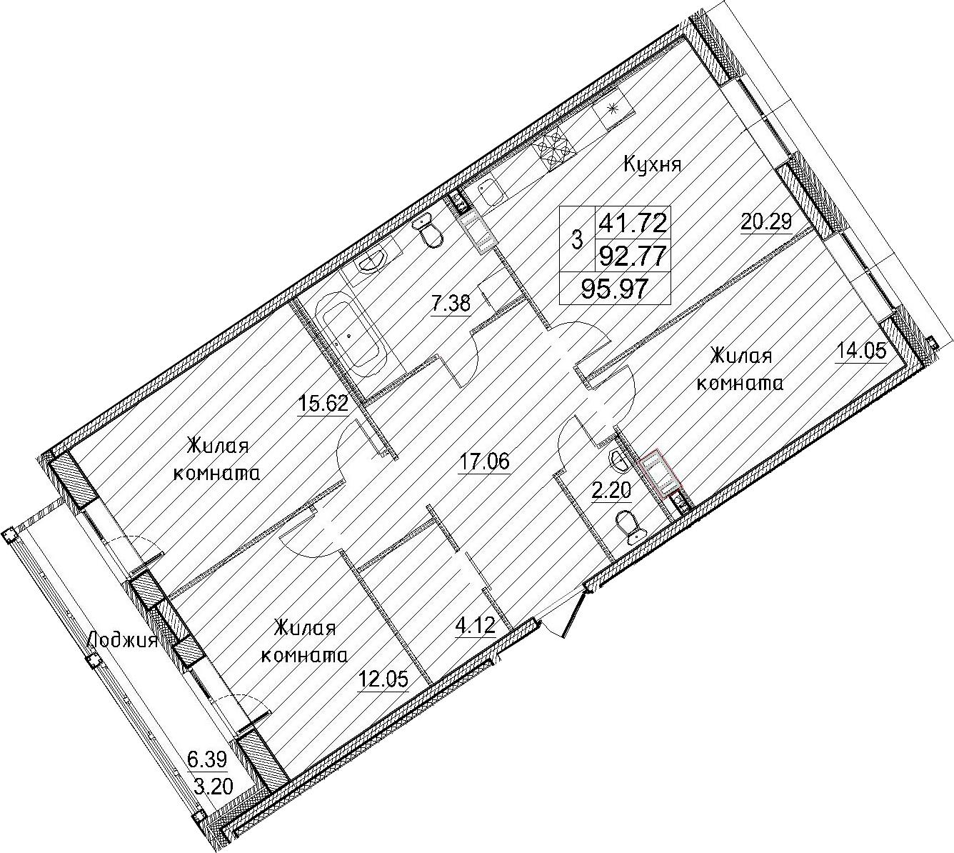 3-к.кв, 99.17 м²