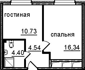 1-к.кв, 36.01 м²