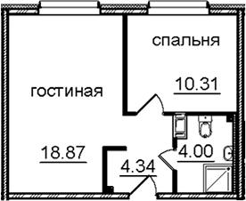 2Е-к.кв, 37.52 м², от 11 этажа