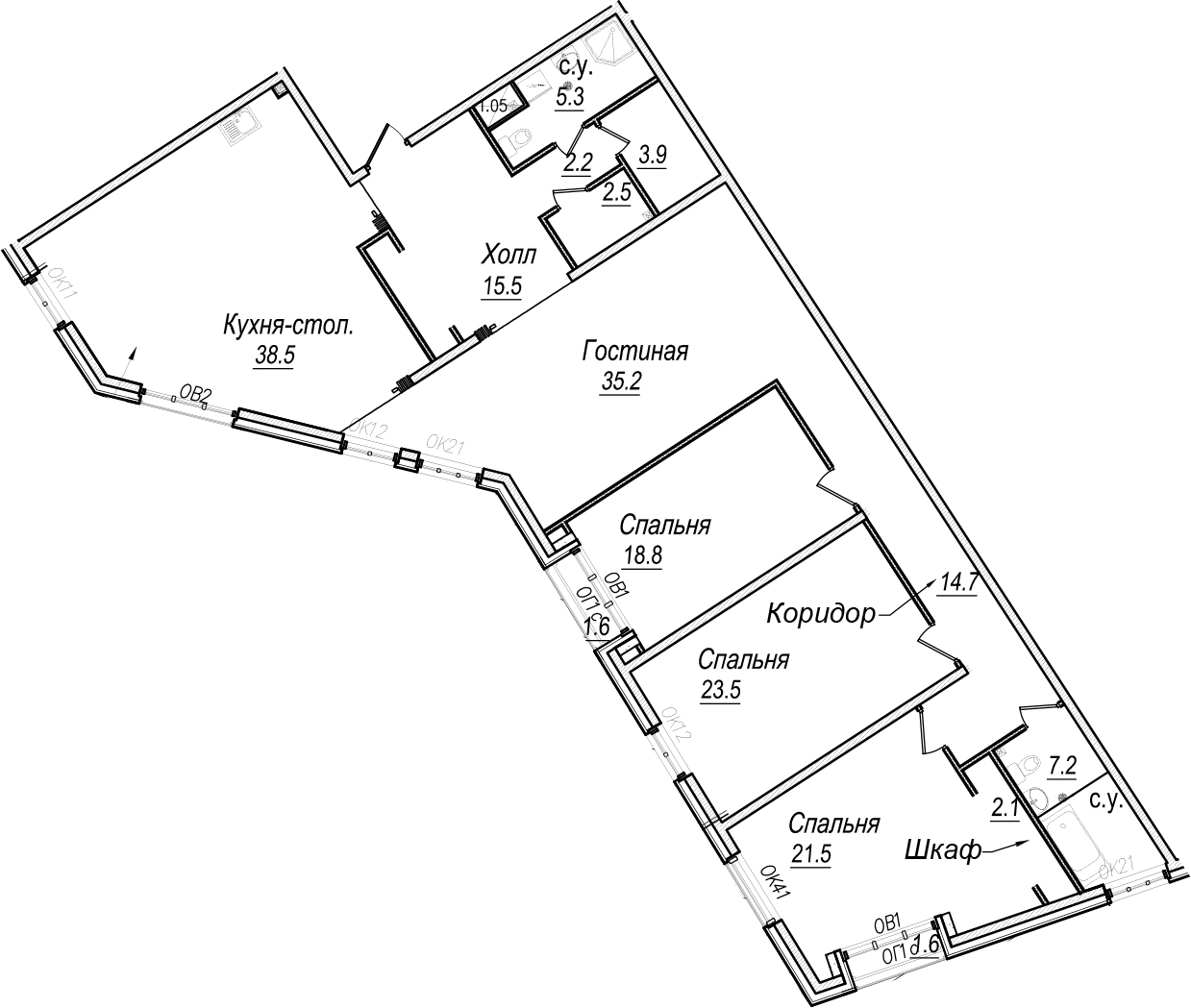 5Е-к.кв, 192.5 м²