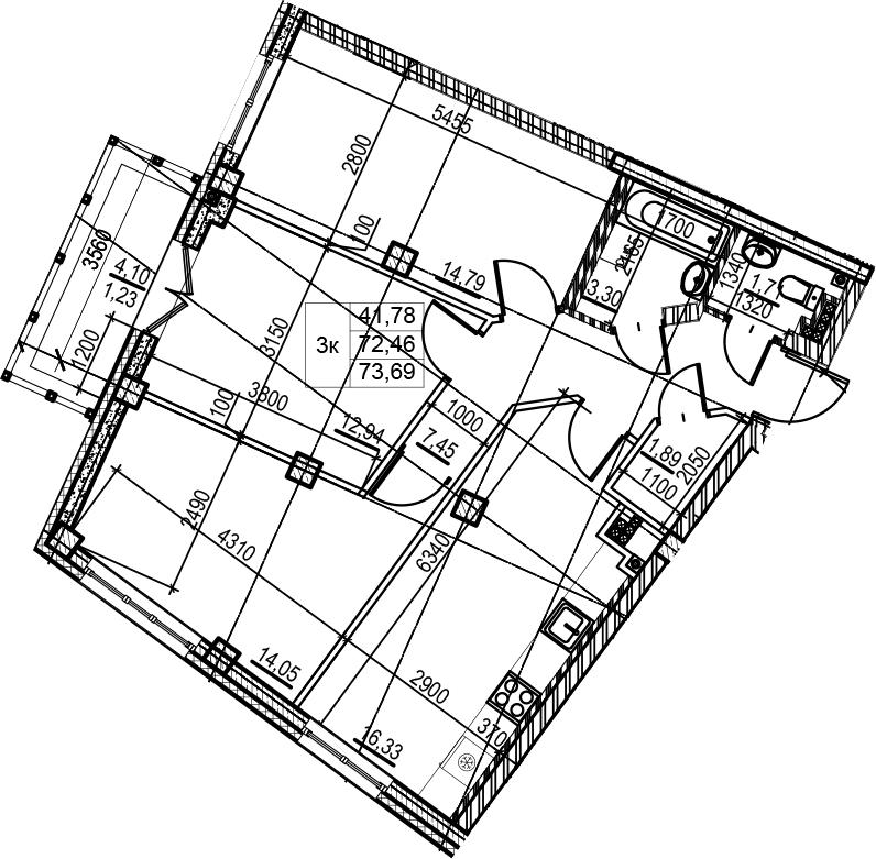 4-к.кв (евро), 76.56 м²