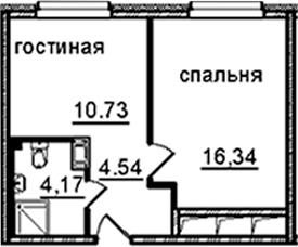 1-к.кв, 35.78 м²