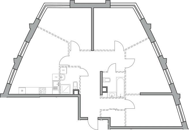 Свободная планировка, 107.3 м²– 2