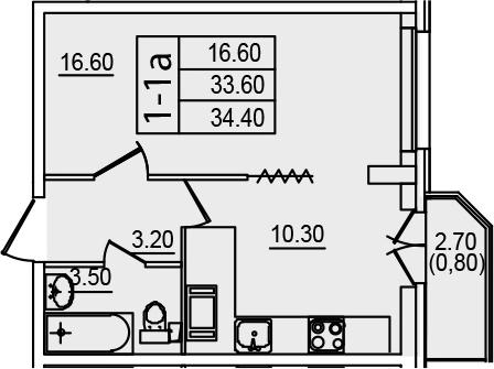 1-к.кв, 36.27 м²