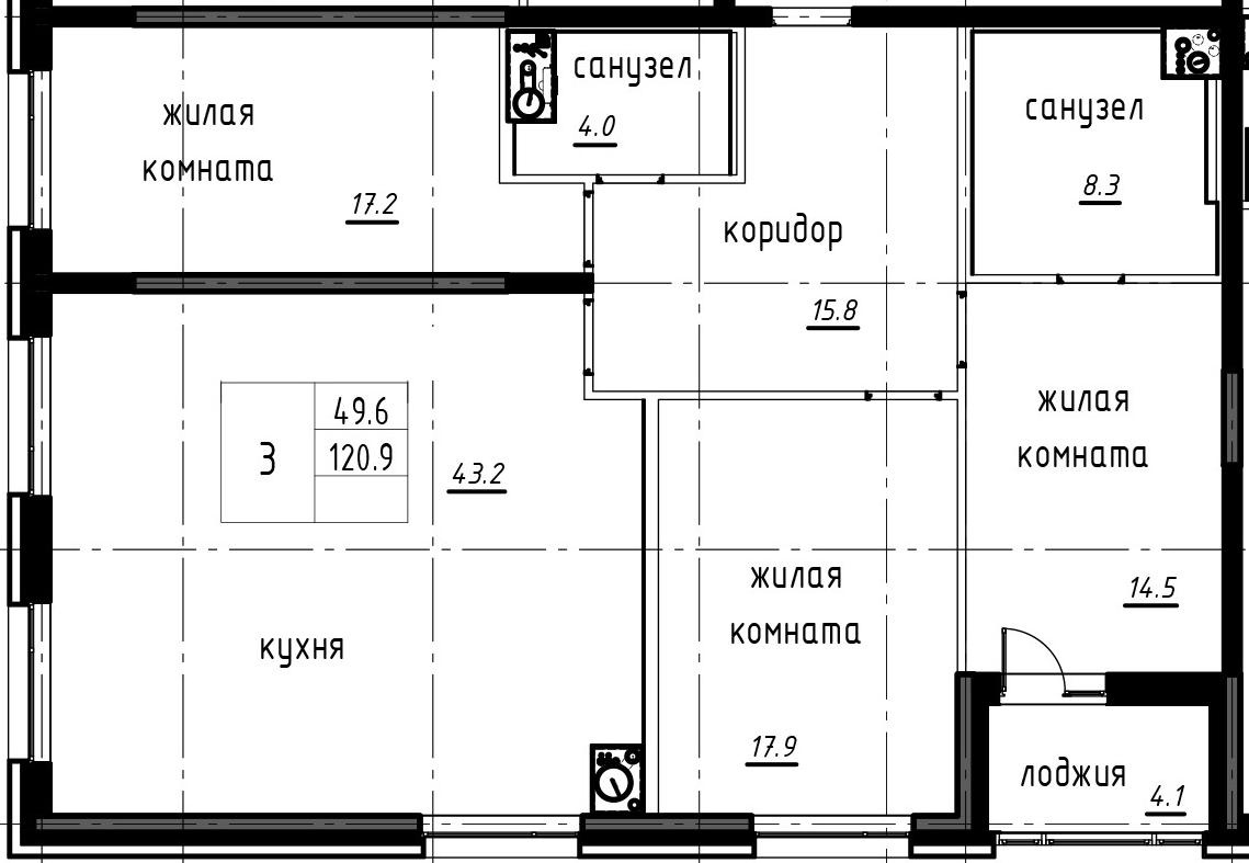 4Е-к.кв, 122.95 м²