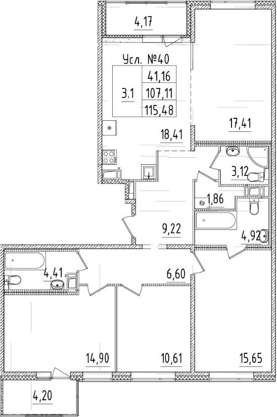 5-к.кв (евро), 115.48 м²
