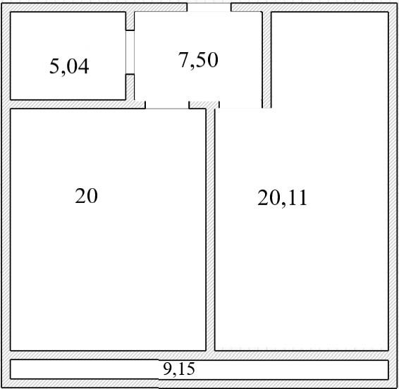 2Е-к.кв, 52.19 м², 16 этаж