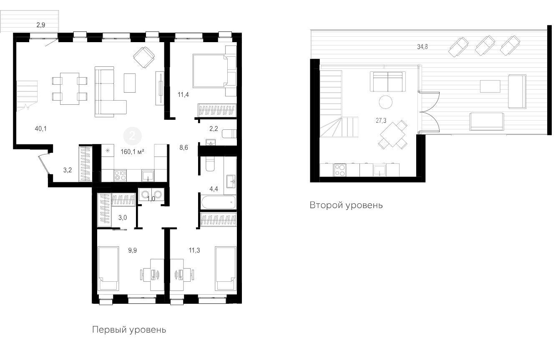4Е-к.кв, 160 м²
