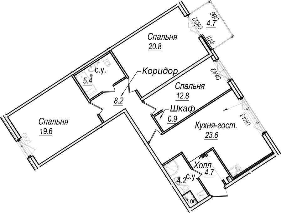 4Е-к.кв, 101.6 м²