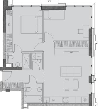 Свободная планировка, 65.9 м²– 2