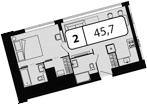 Своб. план., 45.7 м²