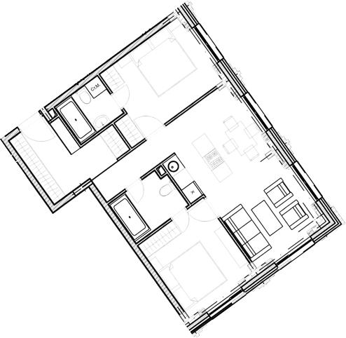 Свободная планировка, 61.6 м²– 2