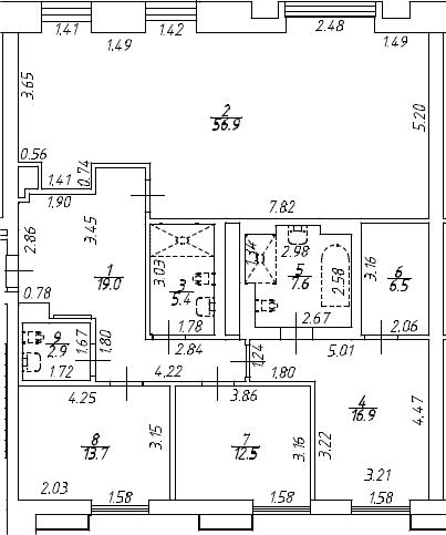 4Е-к.кв, 141.4 м², от 4 этажа